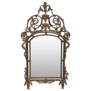 18th Century Carved Italian Gilt Wood Mirror