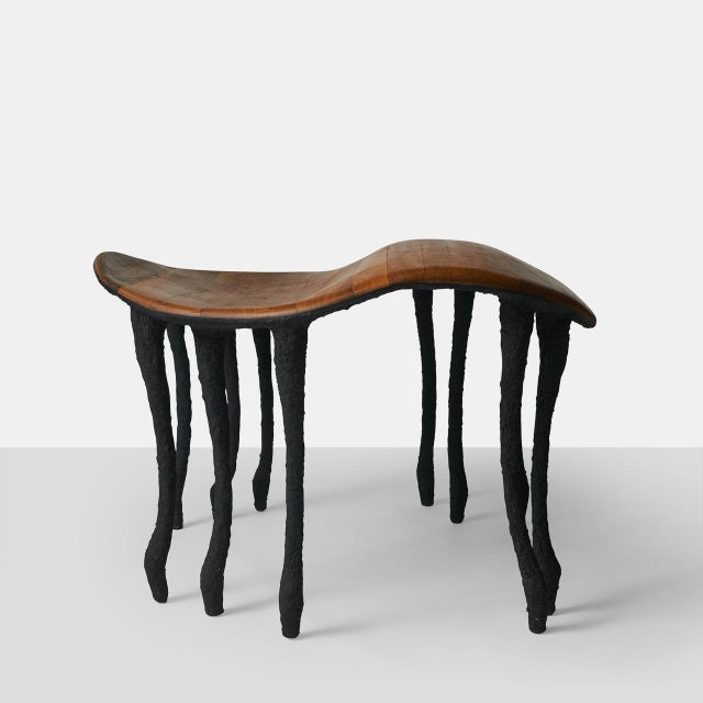 Bended Center Table in Oak by Valentin Loellmann A large center table with bended top in oak hand finished to fit the...