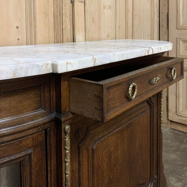 19th Century French Louis XVI Marble Top Display Buffet For Sale - Image 11 of 12