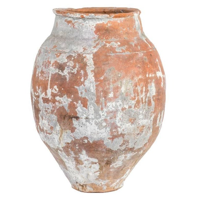 Late 19th Century Large 19th Century Terra Cotta Pot With Tapered Base From France For Sale - Image 5 of 5