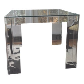 Vintage Lucite Game Table
