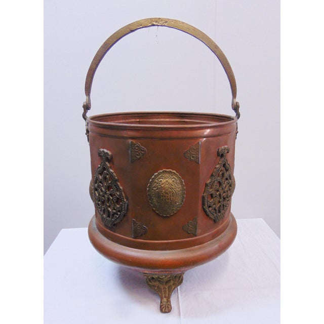 Arts & Crafts Copper & Brass Ash Bucket For Sale In Philadelphia - Image 6 of 7