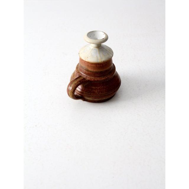 Vintage Studio Pottery Oil Lamp by Charles Piatt For Sale - Image 6 of 7
