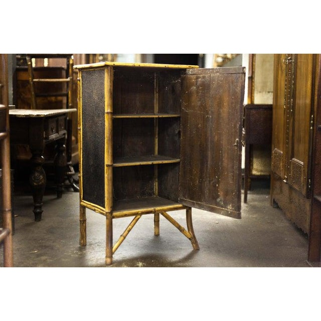 Late 19th Century Late 19th Century Bamboo Cabinet with Faux Book Front Door For Sale - Image 5 of 6