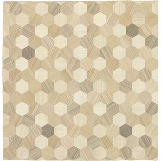 Mid 20th Century Vintage Kilim Composition Rug- 11′5″ × 11′10″ For Sale
