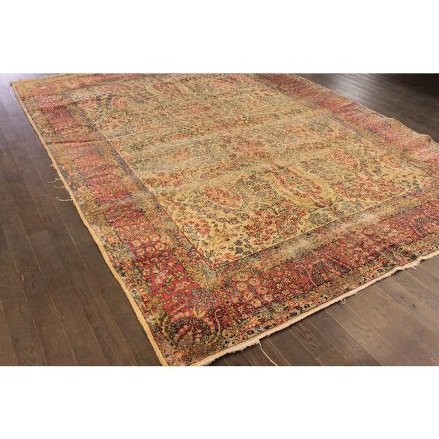 "Apadana Antique Persian Kerman Rug - 7' x 9'11"" For Sale - Image 9 of 9"