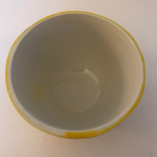 Vintage Italian Pottery Lemon Covered Dish For Sale - Image 4 of 8