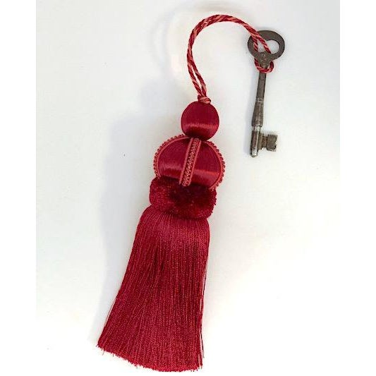 Velvet Ruche Rouge Key Tassel For Sale - Image 9 of 10