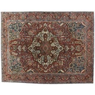 1920s Vintage Persian Bakhtiari Rug - 12′5″ × 16′ For Sale