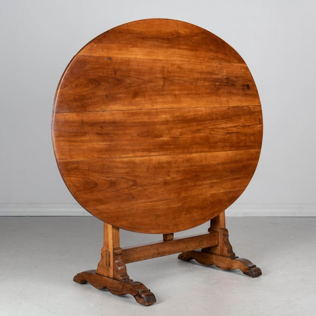 French Oval Wine Tasting or Tilt-Top Table For Sale - Image 12 of 12