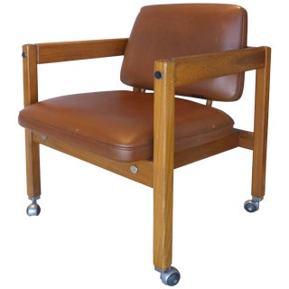 Sergio Rodigues Brazilian Teak Wood Armchair For Sale