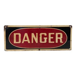 Vintage Metal Danger Sign