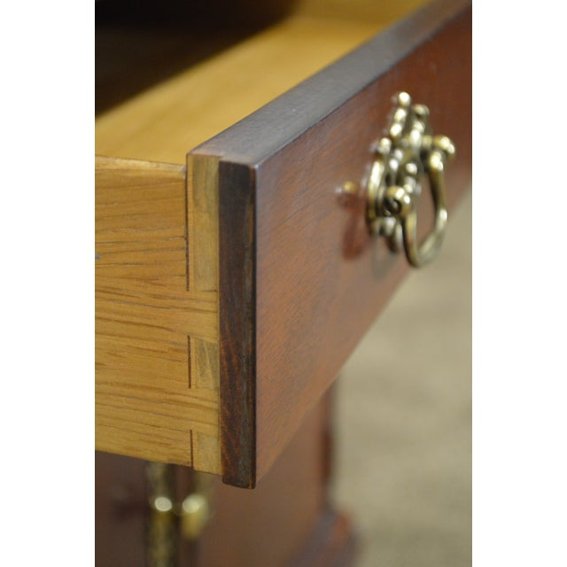 Baker Chippendale Style Mahogany Nightstand - Image 10 of 11