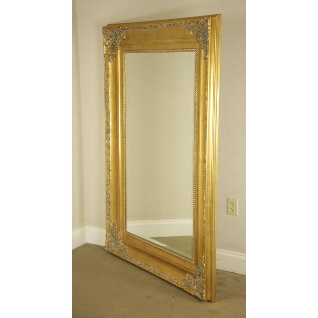 Renaissance Style Large Gold Gilt Wood Frame Beveled Wall Mirror Chairish