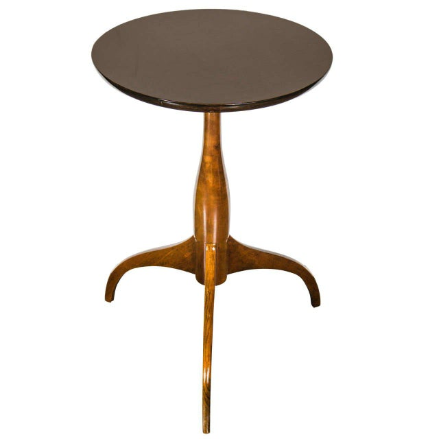 Mid-Century Modernist Burled Walnut Tripod Table by Ian Ingersoll For Sale In New York - Image 6 of 6