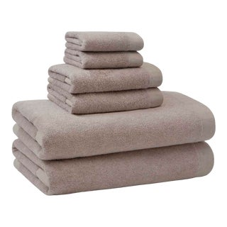 Luca Frame Hand Towel in Oatmeal For Sale