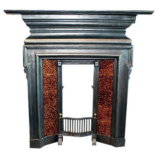 English Cast-Iron Fireplace Mantel For Sale
