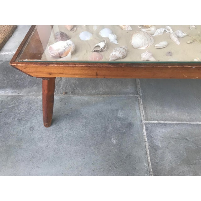 Mid 20th Century 20th Century Americana Beachcomber Pine Coffee Table For Sale - Image 5 of 13