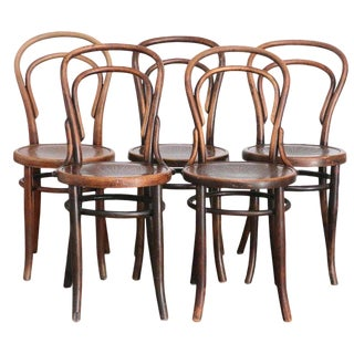 Set of Five Thonet Viennese No. 14 Cafe Chairs For Sale