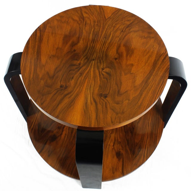 1930s 1930´s Art Deco Sidetable, ebonized beech and walnut - France For Sale - Image 5 of 6