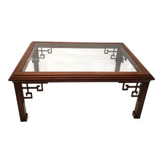 Late 20th C. Ming Style Fretwork Coffee Table For Sale