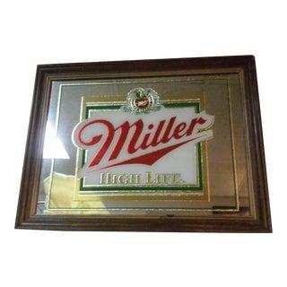 Vintage Framed Miller High Life Mirror