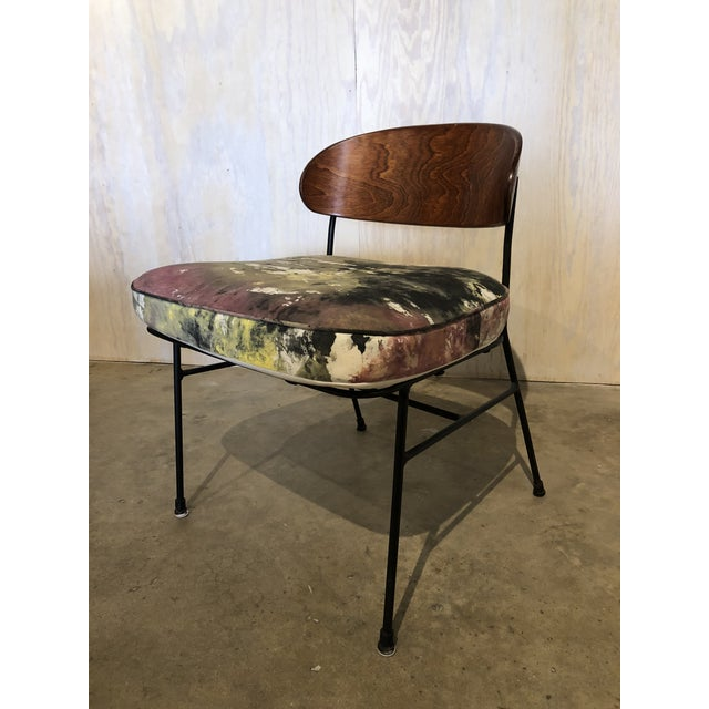 Paul Laszlo for Pacific Iron Walnut and Iron Chairs For Sale In Greensboro - Image 6 of 9