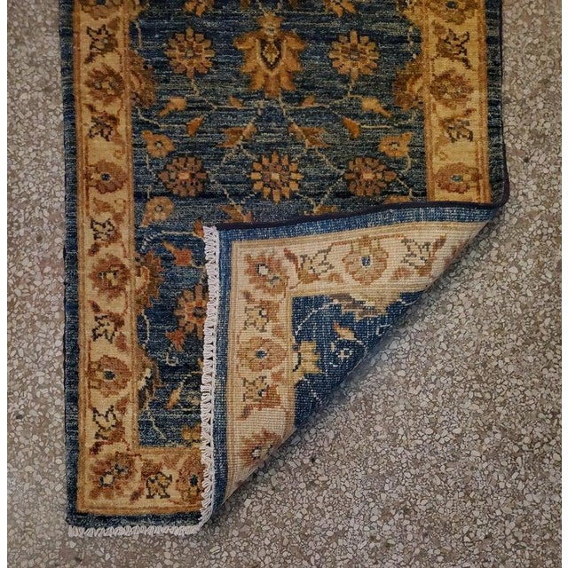 "2010s Afghan Floral Rug-2'x3"" For Sale - Image 5 of 7"