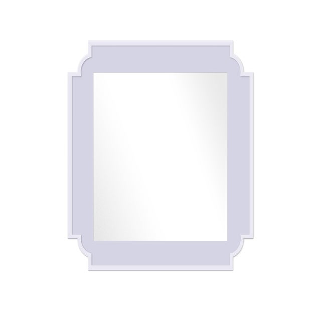 Contemporary Fleur Home x Chairish Camp Mirror in Spring Iris, 24x36 For Sale - Image 3 of 3