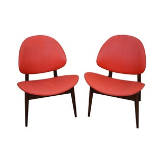 Kodawood Mid-Century Clam Shell Chairs - Pair For Sale