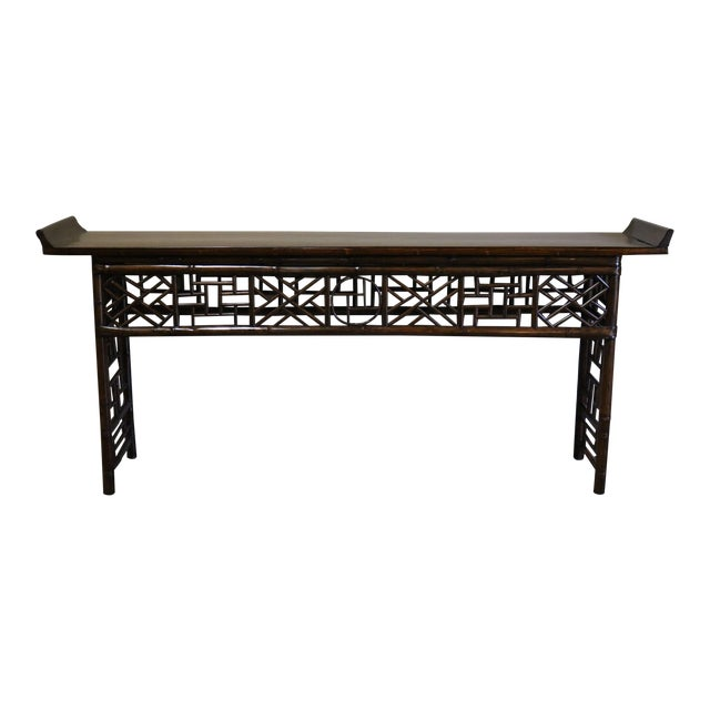 Late 19th Century Bamboo Altar Table For Sale