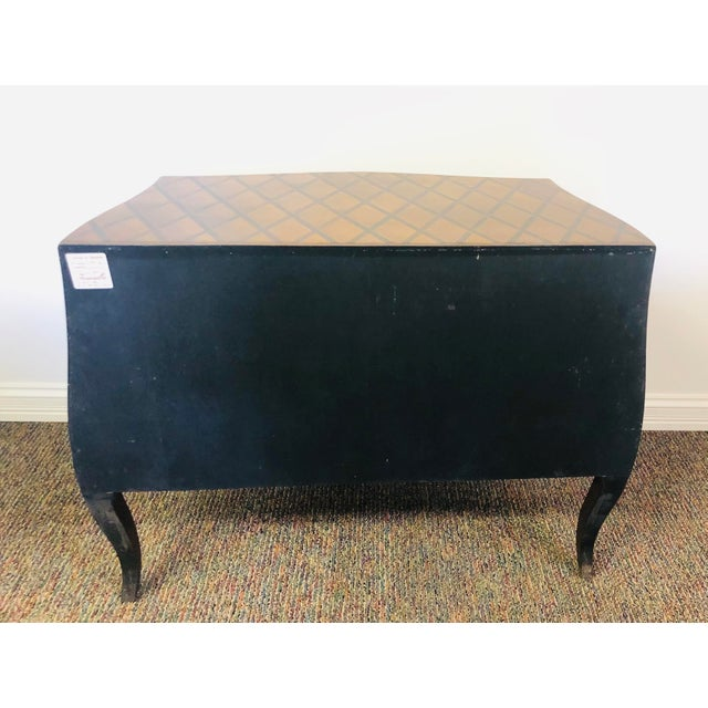 Vintage Trouvailles Bombe Style Dresser For Sale - Image 9 of 11
