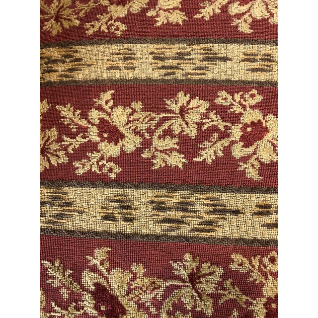 Carved Mahogany and Chenille Upholstered Armchairs - a Pair For Sale - Image 12 of 13