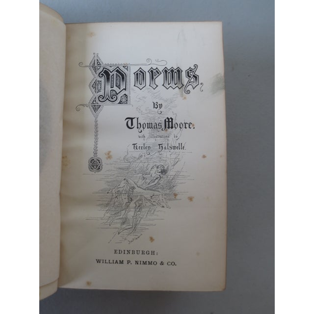 Antique 'The Poetical Works of Thomas Moore' Book For Sale In Indianapolis - Image 6 of 8