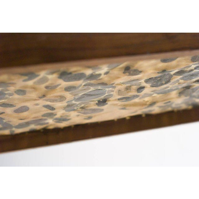 Scandinavian Modern Rosewood Table with Cast Pebbles For Sale - Image 6 of 8
