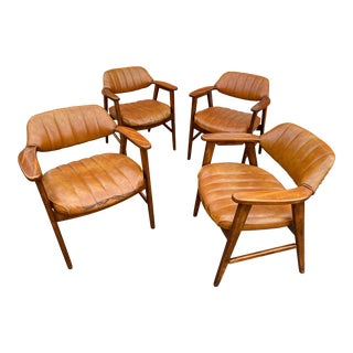 Vintage Mid Century Modern Paoli Lounge Chairs - Set of 4 For Sale