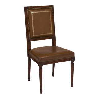 French Louis XVI Style Leather Side Chair