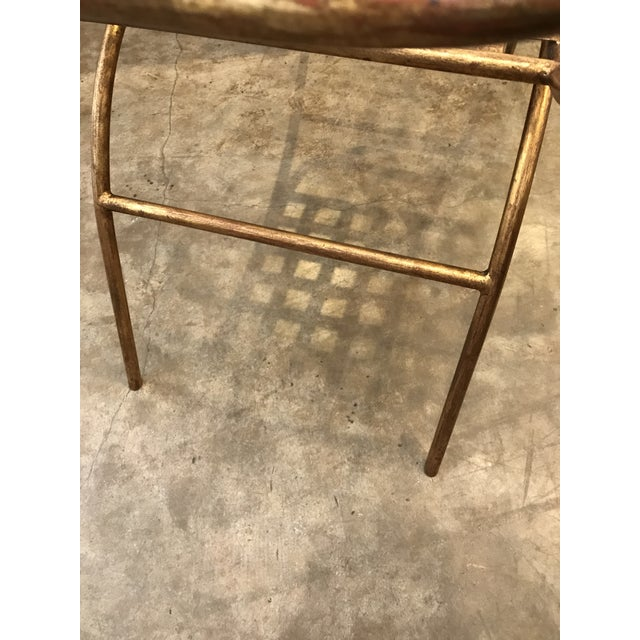 Mid Century Italian Gilded Gold Curule Bench - Image 11 of 12