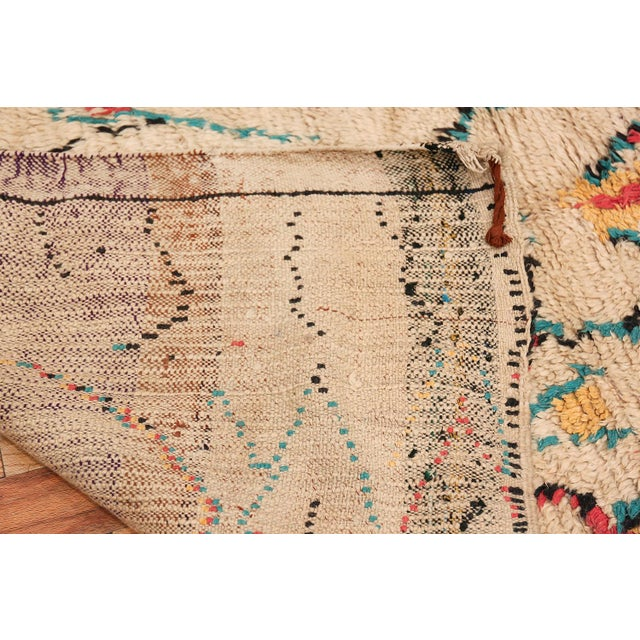 Boho Chic Small Vintage Moroccan Colorful Rug - 4′2″ × 7′ For Sale - Image 3 of 10