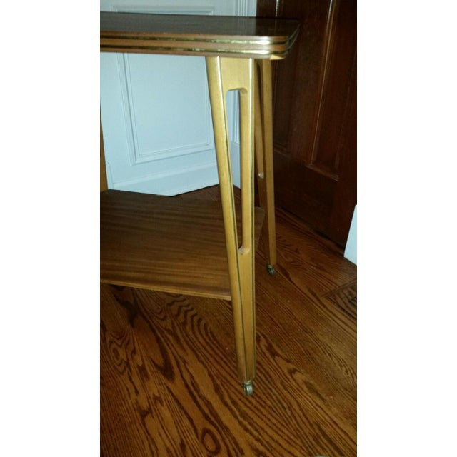 Mid-Century Modern Rolling Side Table - Image 3 of 5