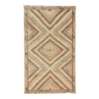 Distressed Turkish Flat-Weave Kilim Rug - 06'00 X 10'00 For Sale