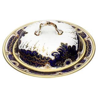 Antique Porcelain & Lustre Butter Dish For Sale