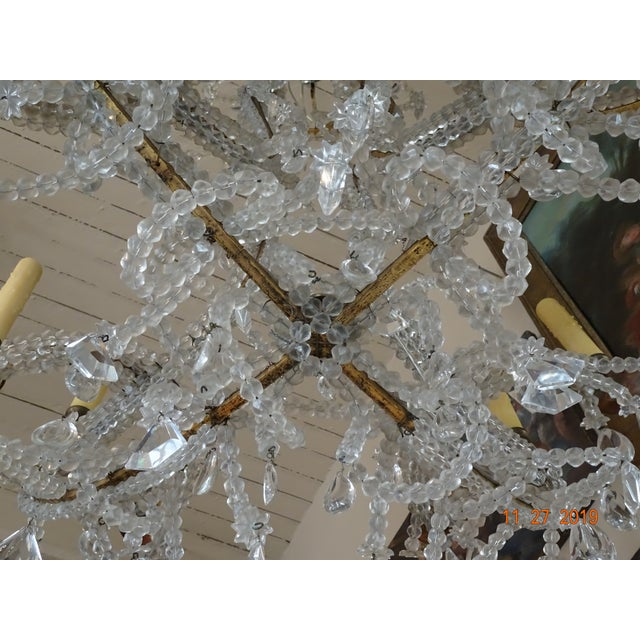 French Crystal Chandelier For Sale In New Orleans - Image 6 of 12