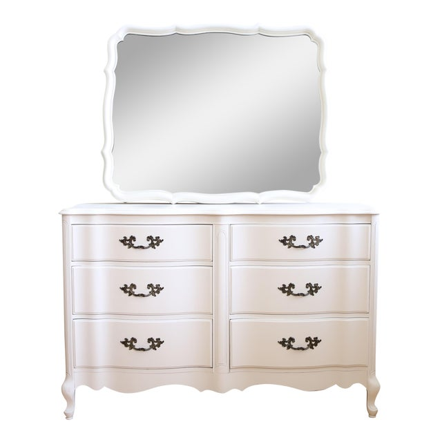 Vintage Shabby Chic Dresser With Mirror For Sale