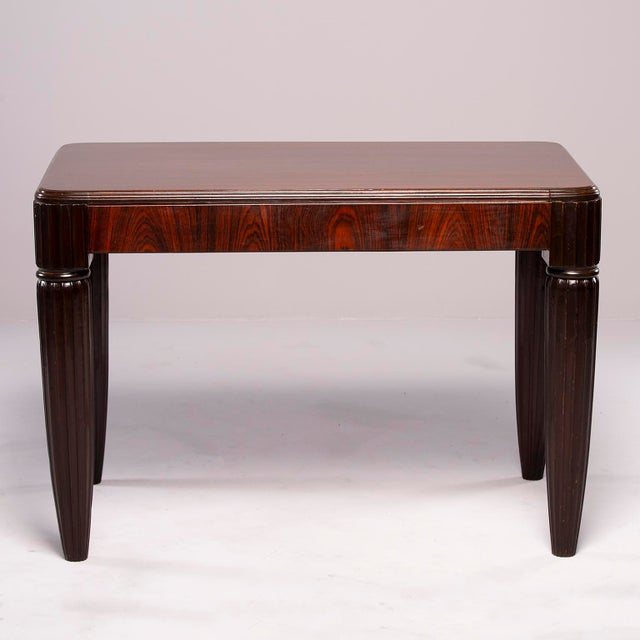 1930s French Rosewood Writing Table With Fluted Legs For Sale - Image 10 of 12