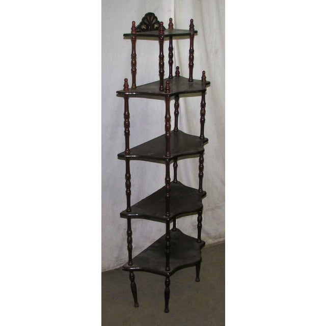 Dark Wooden 5 Tier Shelf - Image 10 of 10
