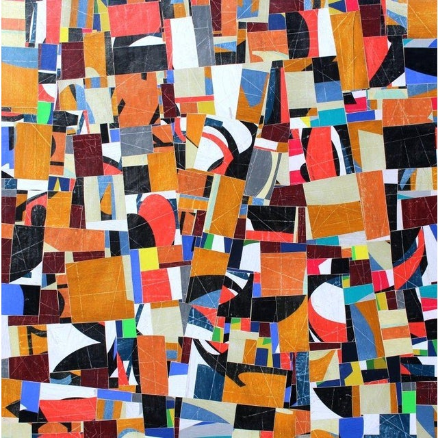 "Canvas ""pdp 787"" Original Collage on Canvas by Cecil Touchon For Sale - Image 7 of 7"