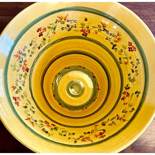 Late 20th Century Large Hand Painted Italian Pasta Bowl For Sale - Image 5 of 9