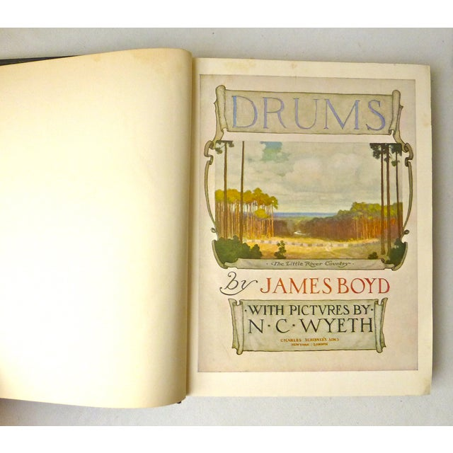 """""""Drums"""" Book Illustrated by N.C. Wyeth, 1928 - Image 4 of 11"""