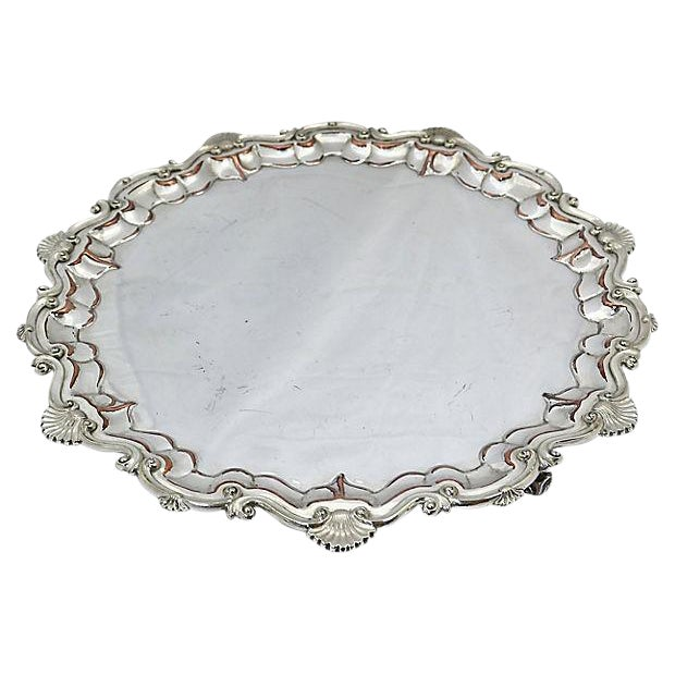 Oversize English Silver-Plate Salver - Image 1 of 5